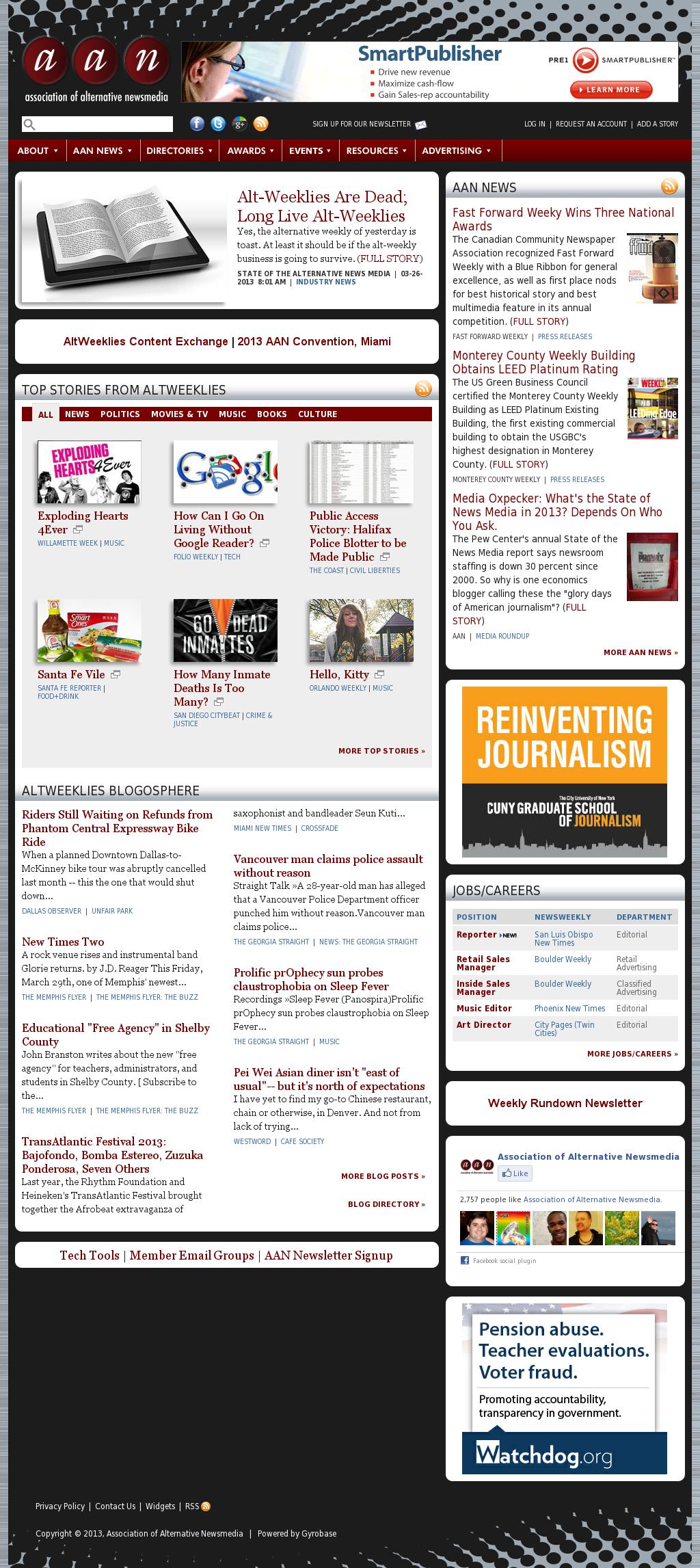 Association of Alternative Newsmedia at Thursday March 28, 2013, 5 p.m. UTC
