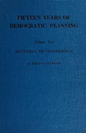 Cover of: Fifteen years of democratic planning   S. Kesava Iyengar