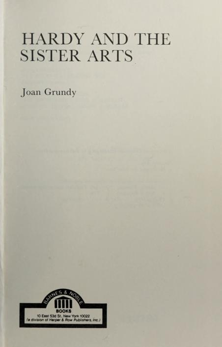 Hardy and the sister arts by Joan Grundy