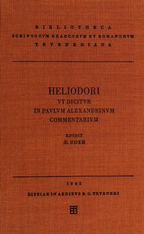 Cover of: In Paulum Alexandrinum commentarium | Heliodorus of Emesa
