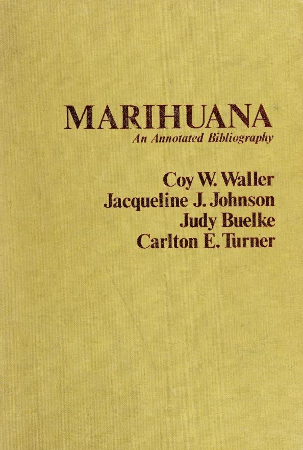 Marihuana by Coy W. Waller