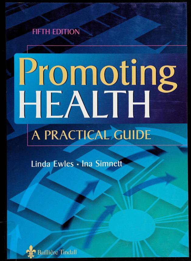 Promoting health by Linda Ewles
